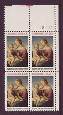 #2063 Christmas Madonna. Mint Plate Block. F-Vf Never Hinged!