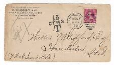 1893 San Francisco California to Hawaii Postage Due, Stamp Dealer Advertising