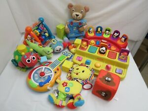 HUGE LOT OF BABY INFANT TOYS  MUSICAL TOYS LEARNING CRIB STROLLER TOYS
