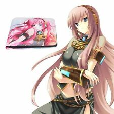 Anime Hatsune Miku Megurine Luka Bifold Short Wallet Purse Card Holder Gift