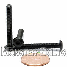 (10) M4 x 30mm - Button Head Socket Caps Screws ISO 7380 12.9 Alloy Steel Blk Ox