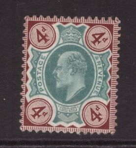 King Edward VII 4d  Green & Brown  MINT NEVER HINGED MNH