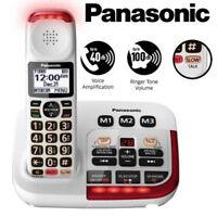 Panasonic Amplified Cordless Phone Digital Answering Machine Visual KX-TGM420W