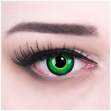Coloured Contact Lenses Black Green Werewolf Color Carnival Halloween