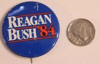 Reagan Bush 84 Pinback Button Political Vintage Ronald Reagan George Bush