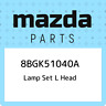 8BGK51040A Mazda Lamp set l head 8BGK51040A, New Genuine OEM Part