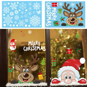 1pc Christmas Wall Stickers Home Shop Showcase Party Door Window Decor Stickers