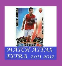 MATCH Attax Extra 2011 2012 TOPPS LE1 a Mikel Arteta Limited Edition 11 12