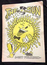 """1974 """"The Sun""""  Underground Newspaper #1 HTF Hippie no nukes anti-war rag"""