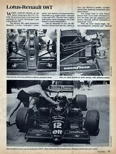 1986 Lotus-Renault 98T Formula 1 Race Car Original Magazine Article, Senna!