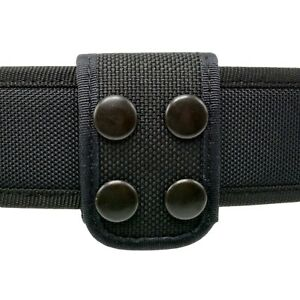 BLACK SMOOTH LEATHER LAW ENFORCEMENT//SECURITY BELT KEEPERS 4 PC SET