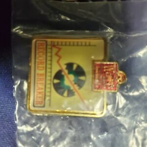 Wendy's Restaurant UNIFORM Collector Employee Pin Record Breaker RED Sealed!