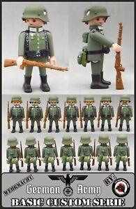 Playmobil Custom WW2 SOLDADO EJERCITO ALEMAN 14 VARIANTES GERMAN ARMY SOLDIER