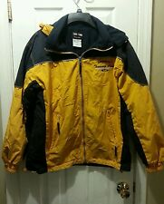 """Trade Winds Outdoor Wear Jacket; Small, Yellow/Black; """"Authentic Traverse City"""""""