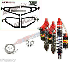 Lonestar +2 A-Arms Elka Legacy Front Rear Shocks Suspension Kit Honda TRX 400EX