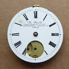 Pocket watch movement, The Reliable, John Myers & Co, Westminster Bridge Rd.