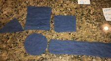Lot Of Light Weight Denim Fabric Quilting Pieces Crafts.