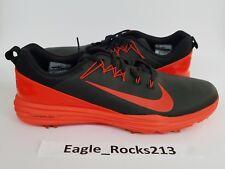 $135 New Nike Golf Lunar Command 2 Shoes Black Max Orange Size 13 849968-001