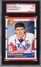 1990-91 Score Keith Primeau Autographed Rookie Card #436 Red Wings SGC