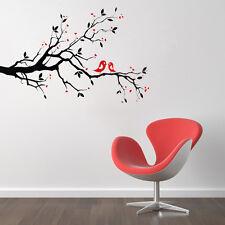 Love Heart Tree Bird Removable Vinyl Wall Decal Sticker Art Mural Home Decor