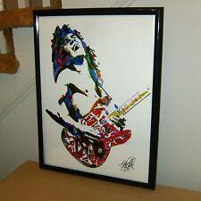 Eddie Van Halen, Guitar Player, Guitarist, Edward Van Halen, 18x24 POSTER w/COA2
