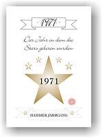 Geschenkidee Geburtstag Hammer Jahrgang Geschenk personalisiert mit Geburtsjahr