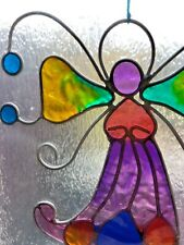 Hand crafted top quality purple fairy suncatcher .... Lovely Letterbox Gift 🎁