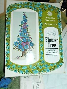 """Vintage Flower tree KIT with Looms - Studio Twelve  (partially completed) 16x36"""""""