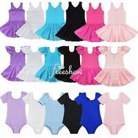 Girls Toddlers Leotard Ballet Dance Gymnastics Tutu Skirts Dress Party Dancewear