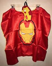 boys HALLOWEEN CAPE FACE MASK NEW NWOT one size ages 4 to 10? AVENGERS 2 PC WOW!