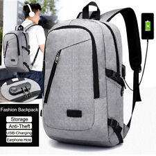 "Fashion 17"" Men's Business Laptop Backpack Casual Oxford Cloth Travel School Bag"