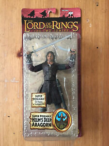 Lord of the Rings Super Poseable Aragorn Helms Deep action figure,Toybiz