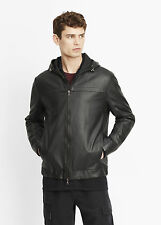 VS NWT VINCE MIXED MEDIA LAMB LEATHER HOODED MEN JACKET SIZE S $895