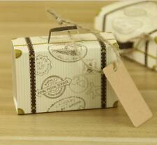 100 x Mini Suitcase Candy Box Carton Wedding Event Party Supplies Wedding Favors