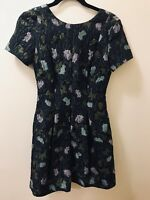 Anthropologie Lyonesse Jacquard Textured Dress by Cynthia Rowley Size 2