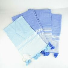 Kuprum Rhodes 100% Turkish Cotton Set of 4 Hand Towels for Spa, Yoga, Gym