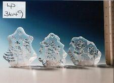 Lp3649 un set di 3 Xmas Crystal DECORAZIONI DA LEONARDO singolarmente BOXED