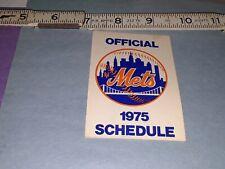 1975 New York Mets Schedule by Dairylea