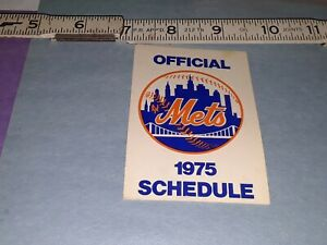 1975 New York Mets Schedule by Dairylea