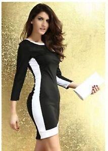 Ladies Womens Sexy Slim Trim Bodycon Midi Dress Size 8-12