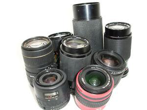 PENTAX K  mount lens lot - 9 lenses for parts / repair