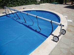 Enrollador (max 5,50m.) para manta térmica o cobertor solar de piscina.