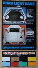 FORD LIGHT VANS orig 1978 UK Mkt Brochure + Colour Guide - Fiesta Escort 35 45