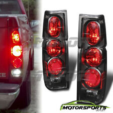 For 1986-1997 Nissan Hardbody Pickup/D21 JDM Black Rear Brake Tail Lights Pair