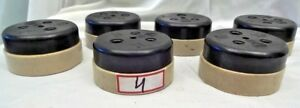 VINTAGE ELECTRIC BAKELITE SWITCHES 3 PIN SOCKET 6 Pec AC USE ONLY VITREOUS OLD 4