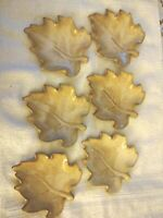 Set of 6 Formalities By Baum Bros. Reactive Leaves Collection Dishes