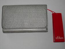 s.Oliver Damen Geldbörse mit Perforation Portemonnaie Silber Börse Geldbeutel