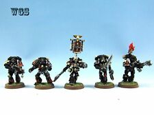 25mm Warhammer 40K WGS painted Space Marine Legion of the Damned Squad SM032