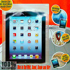 100% Waterproof Case Cover Pouch Samsung Tablet iPad Kindle Google Sony Map Case
