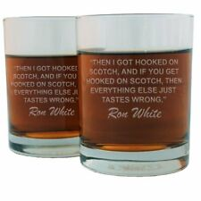 Ron White Famous Quote Etched Whiskey Glass Set